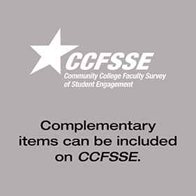 Complementary items can be included on CCFSSE