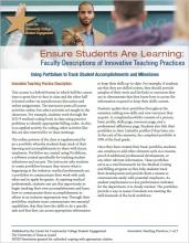 Ensure Students Are Learning: Faculty Descriptions of Innovative Teaching Practices: Using Portfolium to Track Student Accomplishments and Milestones