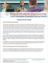 Ensure Students Are Learning: Faculty Descriptions of Innovative Teaching Practices: Graphing Economic Concepts