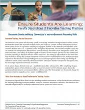 Ensure Students Are Learning: Faculty Descriptions of Innovative Teaching Practices: Discussion Boards and Group Discussions to Improve Economic Reasoning Skills