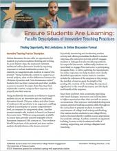 Ensure Students Are Learning: Faculty Descriptions of Innovative Teaching Practices: Finding Opportunity, Not Limitations, In Online Discussion Format