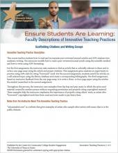 Ensure Students Are Learning: Faculty Descriptions of Innovative Teaching Practices: Scaffolding Citations and Writing Essays