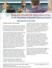 Ensure Students Are Learning: Faculty Descriptions of Innovative Teaching Practices: Using Google Docs for Peer Review