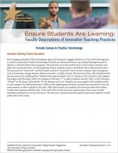 Ensure Students Are Learning: Faculty Descriptions of Innovative Teaching Practices: Periodic Games to Practice Terminology