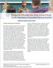 Ensure Students Are Learning: Faculty Descriptions of Innovative Teaching Practices: Individual Problem-Based Project