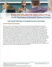 Ensure Students Are Learning: Faculty Descriptions of Innovative Teaching Practices: Game Using QR Codes Allows for Immediate Assessment and Feedback