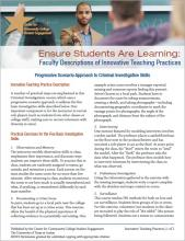 Ensure Students Are Learning: Faculty Descriptions of Innovative Teaching Practices: Progressive Scenario Approach to Criminal Investigative Skills