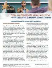 Ensure Students Are Learning: Faculty Descriptions of Innovative Teaching Practices: Instructor Uses Mock Trial to Teach Critical Thinking Skills