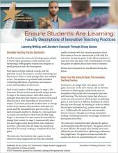 Ensure Students Are Learning: Faculty Descriptions of Innovative Teaching Practices: Learning Writing and Literature Concepts Through Group Games