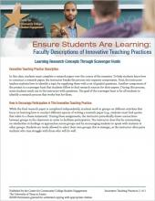 Ensure Students Are Learning: Faculty Descriptions of Innovative Teaching Practices: Learning Research Concepts Through Scavenger Hunts