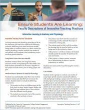 Ensure Students Are Learning: Faculty Descriptions of Innovative Teaching Practices: Interactive Learning in Anatomy and Physiology