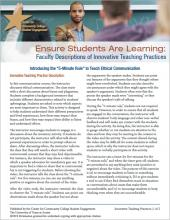 Ensure Students Are Learning: Faculty Descriptions of Innovative Teaching Practices: Introducing the 5-Minute Rule to Teach Ethical Communication
