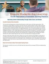 Ensure Students Are Learning: Faculty Descriptions of Innovative Teaching Practices: Improving Content Understanding Through Online Exams and Retakes