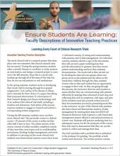 Ensure Students Are Learning: Faculty Descriptions of Innovative Teaching Practices: Learning Every Facet of Clinical Research Trials