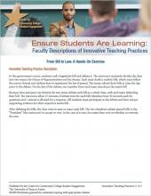 Ensure Students Are Learning: Faculty Descriptions of Innovative Teaching Practices: From Bill to Law: A Hands-On Exercise