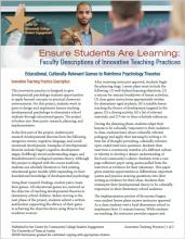 Ensure Students Are Learning: Faculty Descriptions of Innovative Teaching Practices: Educational, Culturally-Relevant Games to Reinforce Psychology Theories