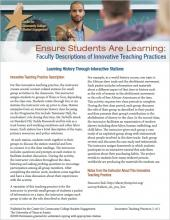 Ensure Students Are Learning: Faculty Descriptions of Innovative Teaching Practices: Learning History Through Interactive Stations