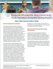 Ensure Students Are Learning: Faculty Descriptions of Innovative Teaching Practices: Using a Flipped Classroom Design in Biology