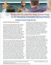 Ensure Students Are Learning: Faculty Descriptions of Innovative Teaching Practices: Professional Practice Through Role-Play