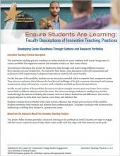 Ensure Students Are Learning: Faculty Descriptions of Innovative Teaching Practices: Developing Career Readiness Through Stations and Research Portfolios
