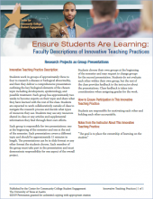 Ensure Students Are Learning: Faculty Descriptions of Innovative Teaching Practices: Research Projects as Group Presentations