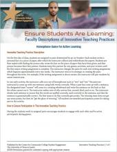 Ensure Students Are Learning: Faculty Descriptions of Innovative Teaching Practices: Homophone Game for Active Learning