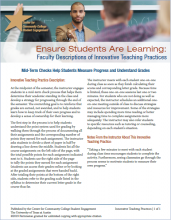 Ensure Students Are Learning: Faculty Descriptions of Innovative Teaching Practices: Mid-Term Checks Help Students Measure Progress and Understand Grades