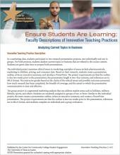 Ensure Students Are Learning: Faculty Descriptions of Innovative Teaching Practices: Analyzing Current Topics in Business