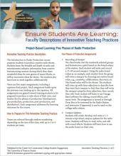 Ensure Students Are Learning: Faculty Descriptions of Innovative Teaching Practices: Project-Based Learning: Five Phases of Radio Production