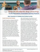 Ensure Students Are Learning: Faculty Descriptions of Innovative Teaching Practices: Music Composition for Facilitating Social-Emotional Learning