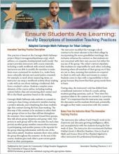 Ensure Students Are Learning: Faculty Descriptions of Innovative Teaching Practices: Adapted Carnegie Math Pathways for Tribal Colleges