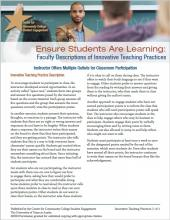 Ensure Students Are Learning: Faculty Descriptions of Innovative Teaching Practices: Instructor Offers Multiple Outlets for Classroom Participation