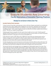 Ensure Students Are Learning: Faculty Descriptions of Innovative Teaching Practices: Bringing Fun and Games to History Exam Prep