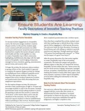 Ensure Students Are Learning: Faculty Descriptions of Innovative Teaching Practices: Mystery Shopping to Create a Hospitality Map
