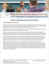 Ensure Students Are Learning: Faculty Descriptions of Innovative Teaching Practices: Math Class Flowing With Creativity and Experimentation