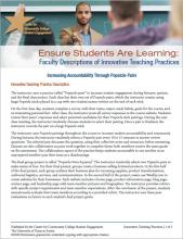 Ensure Students Are Learning: Faculty Descriptions of Innovative Teaching Practices: Increasing Accountability Through Popsicle Pairs