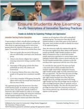 Ensure Students Are Learning: Faculty Descriptions of Innovative Teaching Practices: Hands-on Activity for Exploring Privilege and Oppression