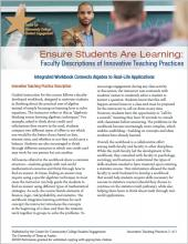 Ensure Students Are Learning: Faculty Descriptions of Innovative Teaching Practices: Integrated Workbook Connects Algebra to Real-Life Applications