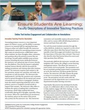 Ensure Students Are Learning: Faculty Descriptions of Innovative Teaching Practices: Online Tool Incites Engagement and Collaboration on Annotations